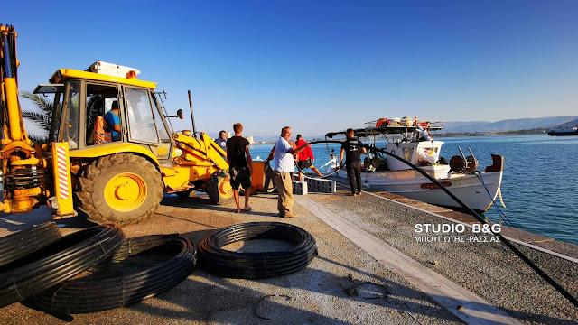 Ναύπλιο: Σε εξελιξη εργασίες αποκατάστασης του αγωγού ύδρευσης στο Μπούρτζι (βίντεο)