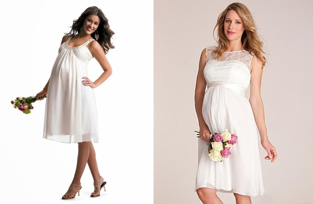 Vestidos curtos para noivas grávidas