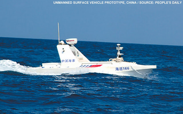 On 4 June 2013, China's Ministry of Transport and Maritime Bureau  revealed a new engineering prototype unmanned surface vehicle (USV).