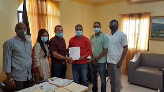 Presidente Unión Deportiva  Wilson Díaz Valdez  califica de positiva visita alcalde del municipio de Cambita Garabito José Peña