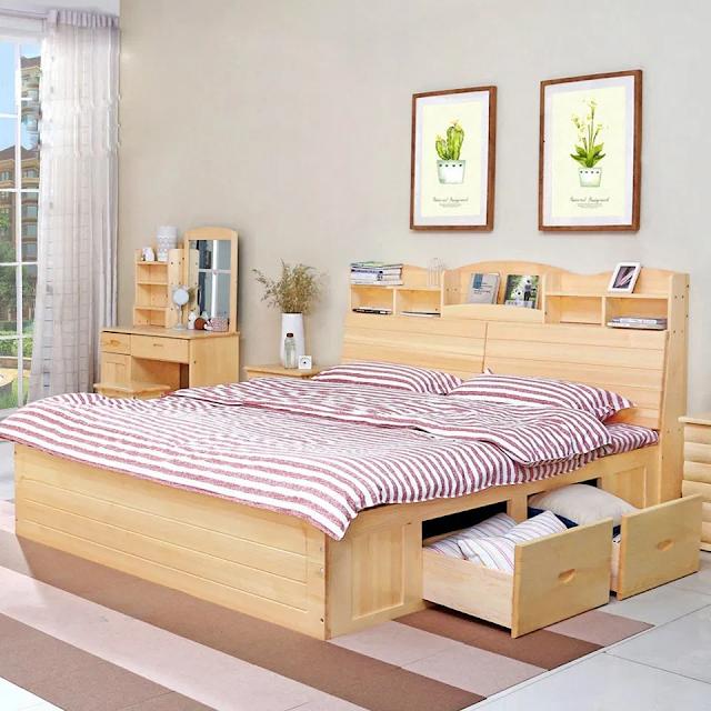 giường ngăn kéo là giải pháp cho không gian hẹp.