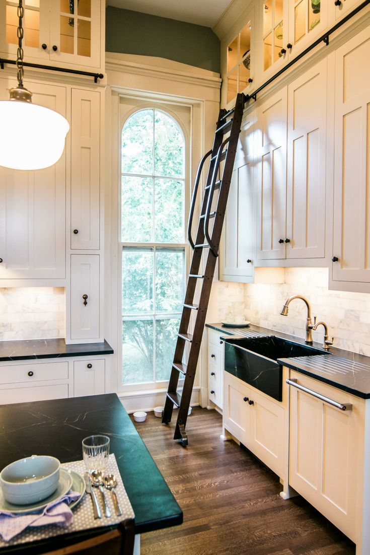 Nice Custom Kitchen Remodel in a Historic Mansion