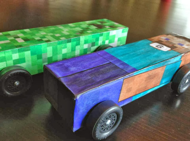 Poor md minecraft pinewood derby car with template for Boy scout derby car templates