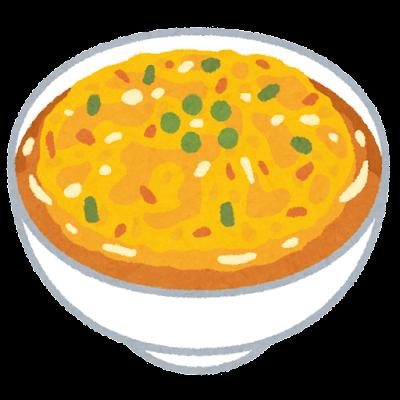 天津飯のイラスト