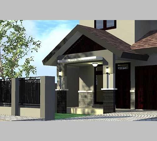 Model Teras Rumah Joglo Modern Minimalis Dengan Warna Cat