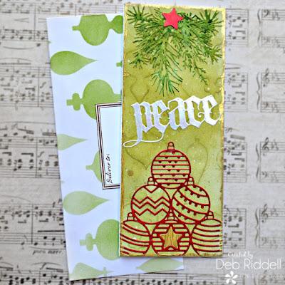 Peace Slimline Christmas Card