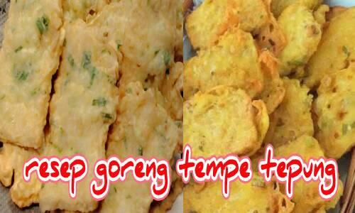 resep goreng tempe tepung