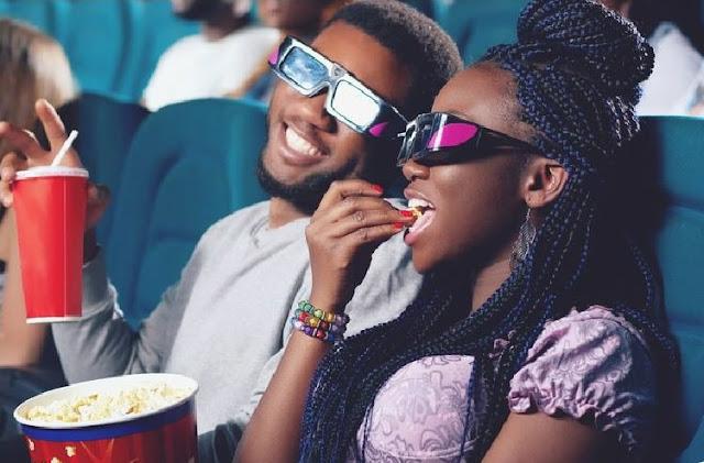 Man and her girlfriend having fun