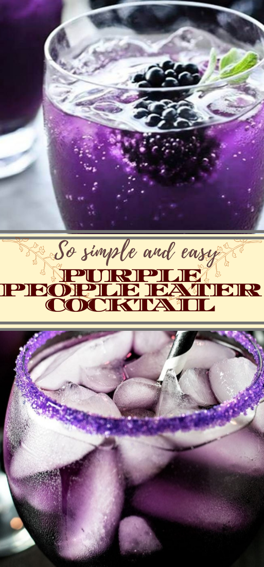 PURPLE PEOPLE EATER COCKTAIL  #healthydrink #easyrecipe #cocktail #smoothie