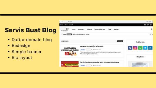 Mula Servis Buat Blog [ Blogspot ]