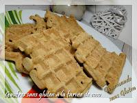 Gaufres sans gluten à la farine de coco