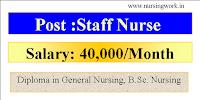 Staff Nurse jobs- 40,000 Per month