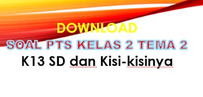 Soal PTS Kelas 2 Tema 2 K13 SD/MI dan Kisi-kisi