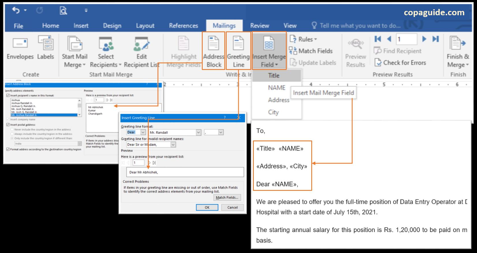 Microsoft Word - Using Write & Insert Fields