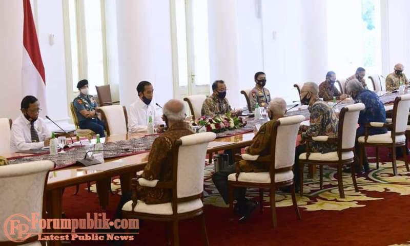 Bertemu Purnawirawan TNI-Polri, Jokowi Bertukar Pandangan Soal Pancasila dan Masalah Kebangsaan