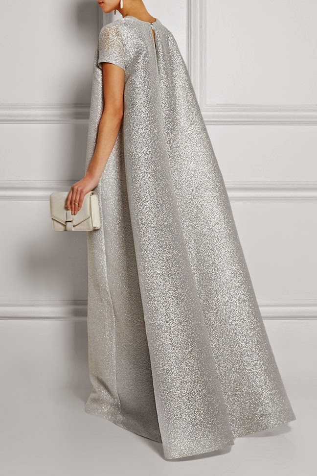 ef3f498727b86 The Daily Frock: Emilia Wickstead Silver Milly Cloqué Gown | The ...