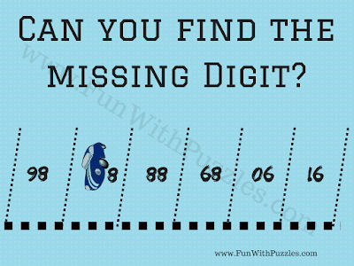 Can you find the missing digit? 98 ?8 88 68 06 16