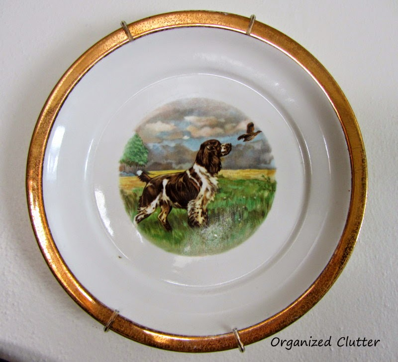 Dog Plate English Country Style www.organizedclutterqueen.blogspot.com
