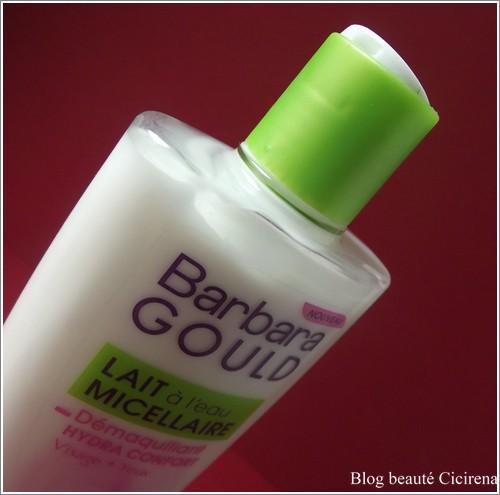 Hydra Confort au lait et à l'eau micellaire, Barbara Gould