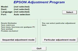 Reset Printer Epson Tipe L220