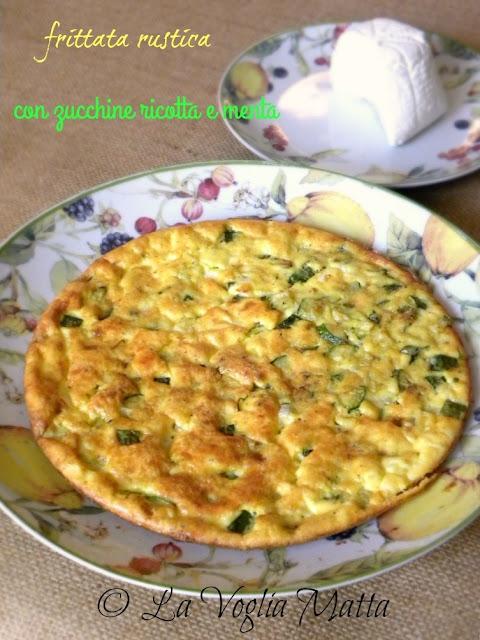 frittata rustica con zucchine ricotta e menta