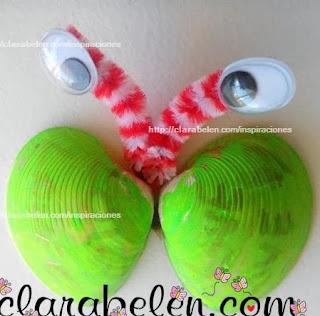 http://clarabelen.com/inspiraciones/3982/manualidades-para-los-ninos-mariposas-hechas-con-almejas-o-chirlas/