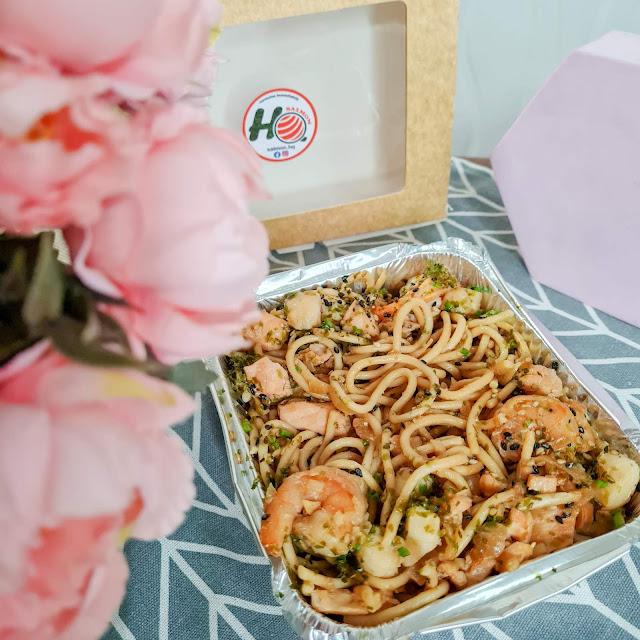 Salmon HQ Seafood Wafu Pasta