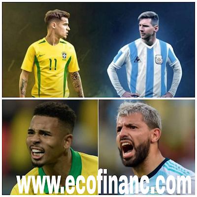 Choc de stars dans la coupe d'Amérique latine entre BRÉSIL et ARGENTINE