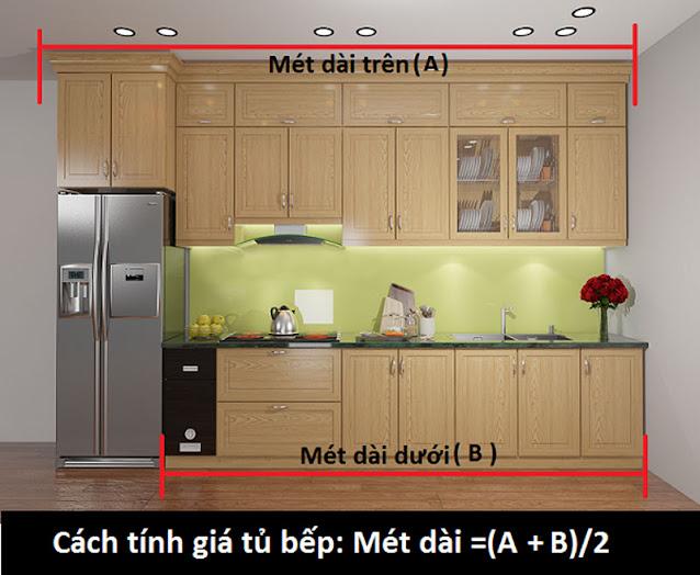 Giá tủ bếp nhôm kính 2021