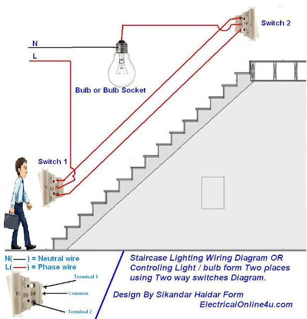 Cara Memasang Kabel Listrik 220v Untuk 1 Lampu Dengan 2