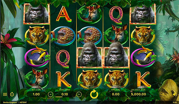 Main Gratis Slot Indonesia - Gorilla Kingdom (NetEnt)