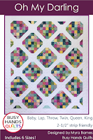 Oh My Darling Quilt Pattern by Myra Barnes of Busy Hands Quilts