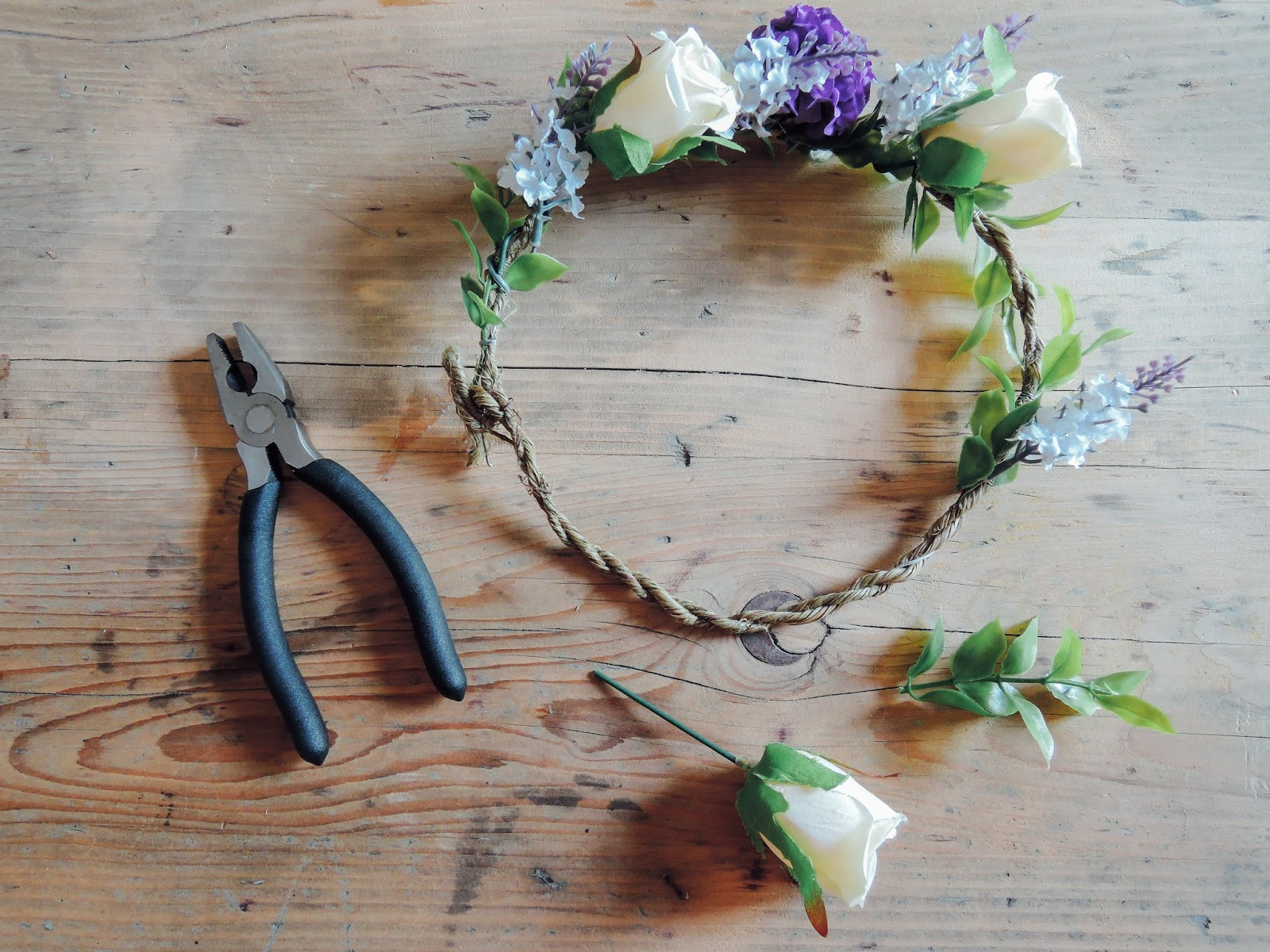 A handmade cottage how to make a flower crown for weddings diy flower crown izmirmasajfo Image collections