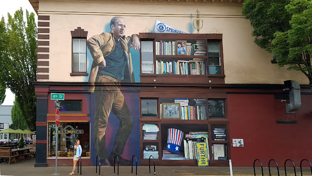 Large mural celebrates local author Ken Kesey...
