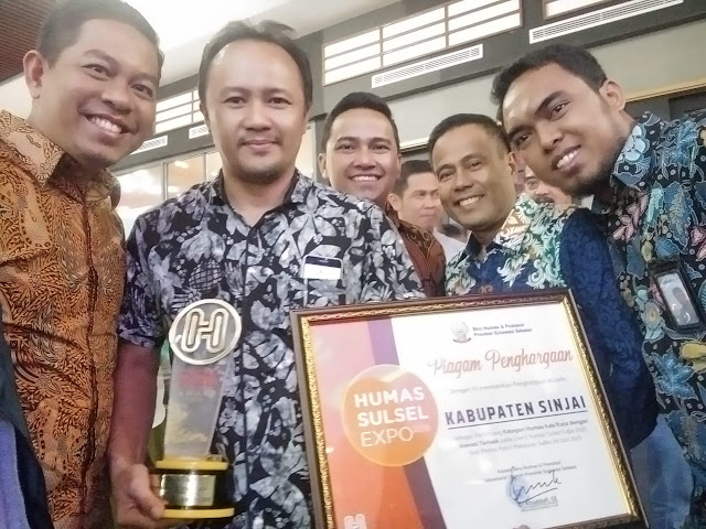 Humas Expo 2019, Sinjai Raih Penghargaan Kategori Inovasi Humas Terbaik