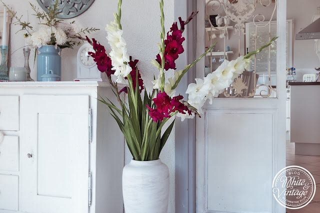 Sommerdeko mit Gladiolen