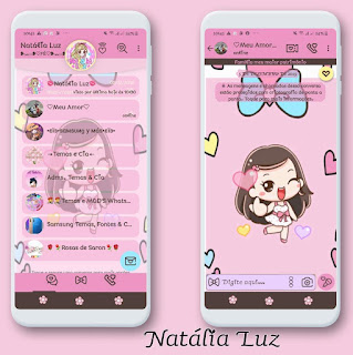 Girls & Love Theme For YOWhatsApp & Fouad WhatsApp By Leidiane
