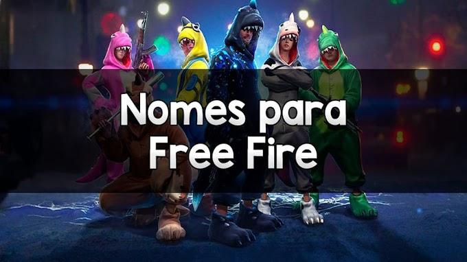 2400 Nomes para Free Fire (Masculinos e Femininos)