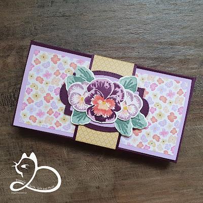 Stampin'Up!®, Vrolijke Viooltjes, Zelfgemaakt, Kado-doosje, Diana's Cards Cats and More, Gorinchem, stempelen, hobby