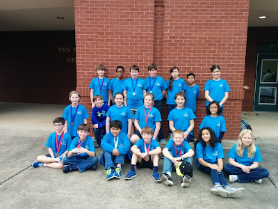 MCPS Elementary Science Olympiad Medals in Six Events in Jacksonville, Alabama 1