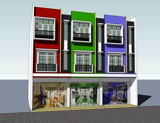 desain ruko minimalis 3 lantai tampak depan model terbaru