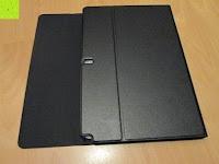 Case ausklappen: Sharon Galaxy NotePRO 12.2 Hülle mit magnetisch befestigter Bluetooth Tastatur und integriertem Touchpad | Ultraslim Schutzhülle | deutsches Layout | Tastatur herausnehmbar