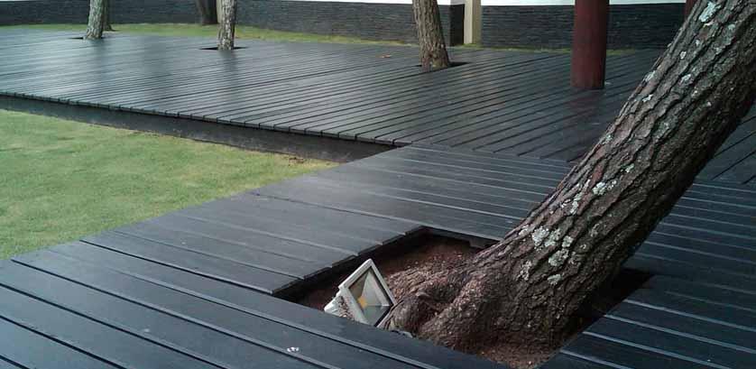 parket lantai kayu outdoor