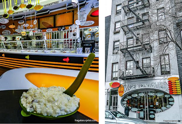 Rice to Riches, casa especializada em arroz doce, em Nova York