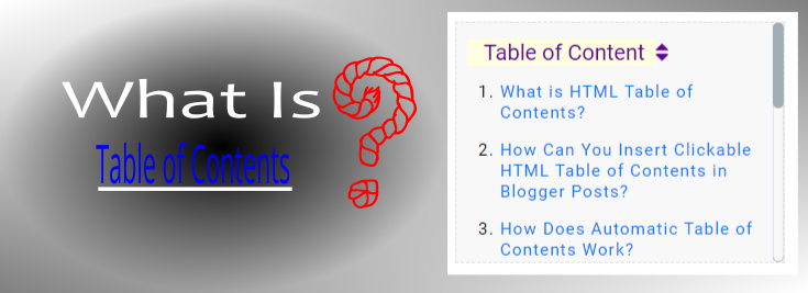 what is html automatic table of contents