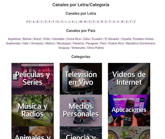 Lista de Canales Roku Hollogram Television