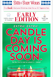 Bath & Body Works | Tonight's Email - December 5, 2019 | Candle Day