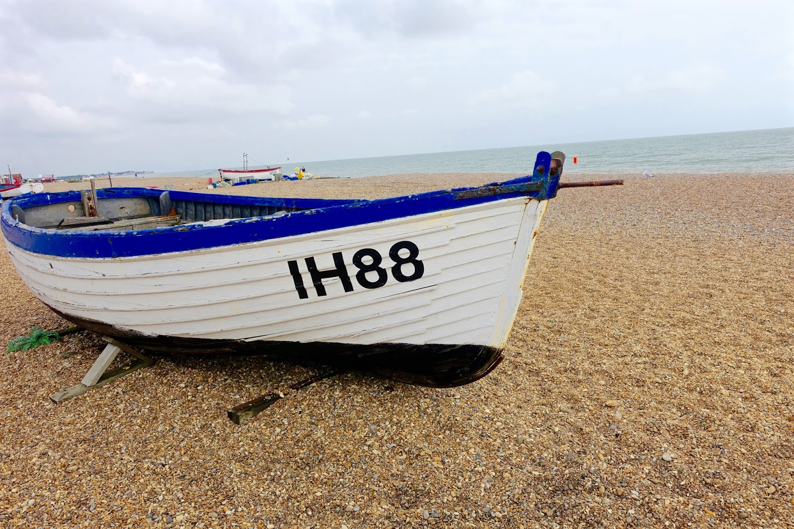 boats on aldeburgh beach