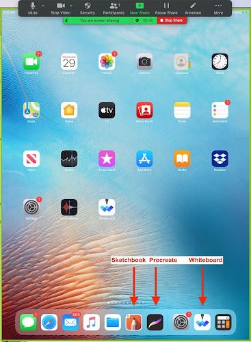 My iPad desktop