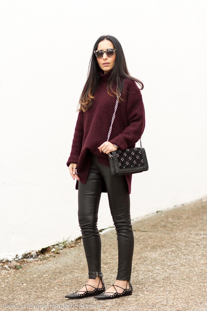 Blogger moda de Valencia con ideas looks comodos para diario con zapatos planos